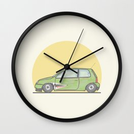 Volkswagen Lupo vector illustration Wall Clock
