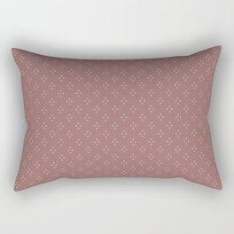 Ditsy Dot Diamonds in Blush Rectangular Pillow