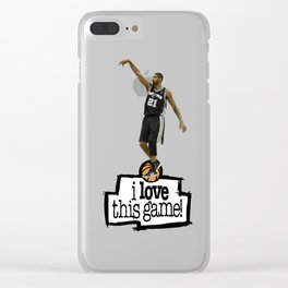 Tim Duncan Clear iPhone Case