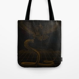 Giant Space Creature Battle Tote Bag