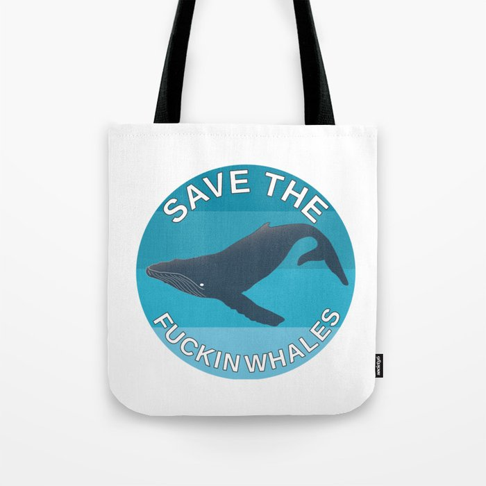 Sav On Bags >> Save The Whales Tote Bag By Gojira85