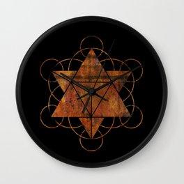 Seed of Life Merkaba Wall Clock