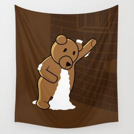 plush bear Wall Tapestry