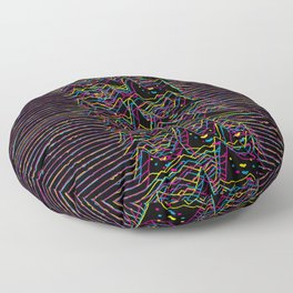 Furr Division Glitch Floor Pillow