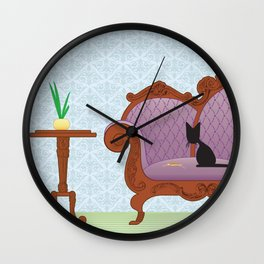 The Naughty Kitten: Polite Company Wall Clock