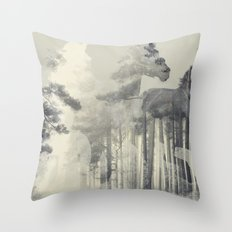 Like a Horse in the woods Throw Pillow
