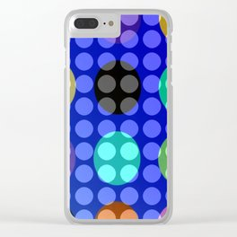 Dots on Elipses Clear iPhone Case