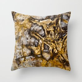 Sequoia Tree Cross Section Throw Pillow