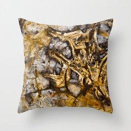 Sequoia Tree Cross Section Throw Pillow
