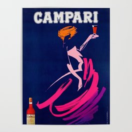Vintage 1983 Bitter Campari Advertisement by Carrier Alain Poster