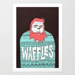 Mister Waffles Art Print