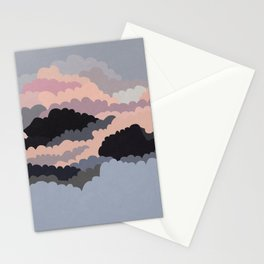 Magic Sunset Clouds On The Sky Stationery Cards