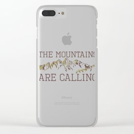Camping Hiking Nature Lover Mountains are Calling Clear iPhone Case