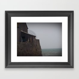 A dock Framed Art Print