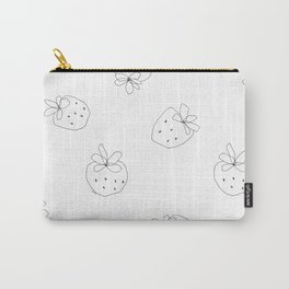 Your Color no.2 - strawberry illustration fruit pattern Carry-All Pouch