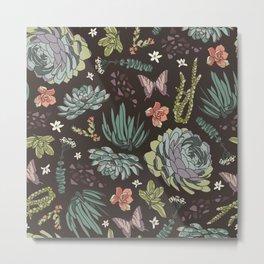 Cacti by Night Metal Print