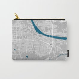Little Rock city map grey colour Carry-All Pouch