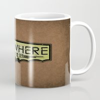 bioshock Mugs featuring Somewhere Beyond the Sea by adho1982