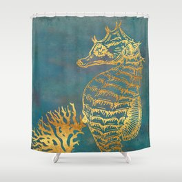 Deep Sea Life Seahorse Shower Curtain