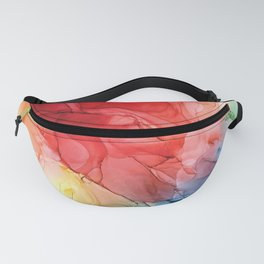 Rainbow Good Vibes Abstract Painting Fanny Pack
