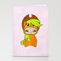 mlp Stationery Cards featuring A Boy - Applejack by Christophe Chiozzi