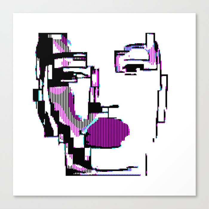Android Pixelated Canvas Print