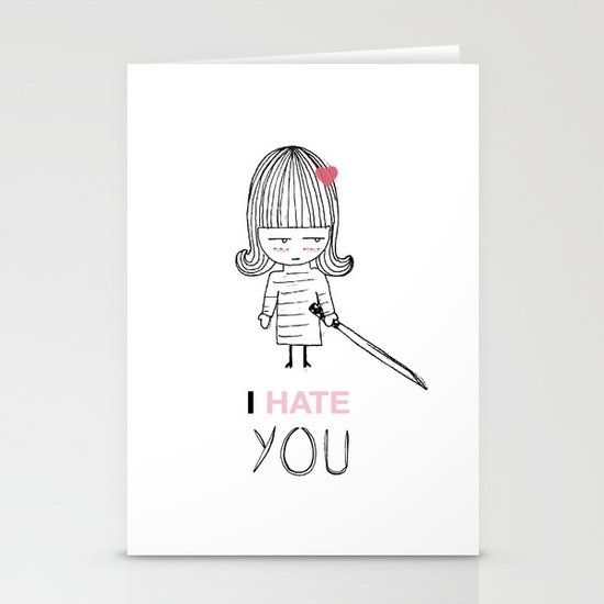 I Hate You / Kill Bill Stationery Cards