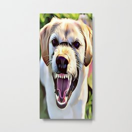 Mean Aggressive Dog Metal Print