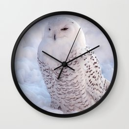 Harfang des neiges Wall Clock