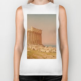 Ruins of the Parthenon Oil Painting by Sanford Robinson Gifford Biker Tank