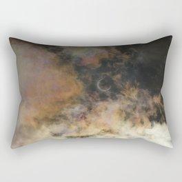 Solar Eclipse and Clouds Rectangular Pillow
