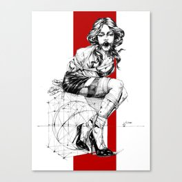 Art Nouveau Lady. Canvas Print