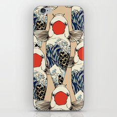 The Great Wave Of Koi iPhone & iPod Skin