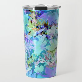 Sky Blue Poppies Travel Mug