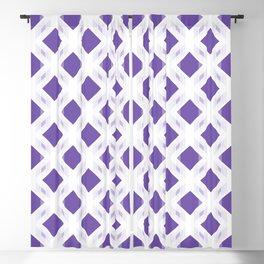 Retro-Delight - Diamond Division - Purple (Invert) Blackout Curtain