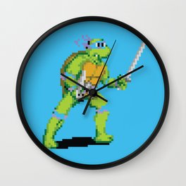 Pixelated Teenage Mutant Ninja Turtles (TMNT) - Leonardo Wall Clock
