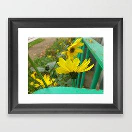Green & Yellow Perspective Framed Art Print