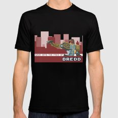 Gaze Into the Face of Dredd Black MEDIUM Mens Fitted Tee