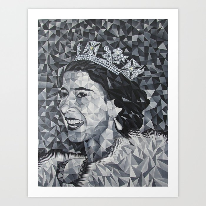 Young Queen Elizabeth Art Print By Mbengpouka