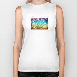 The Flower of Life & Metatron's Cube - The Rainbow Tribe Collection Biker Tank