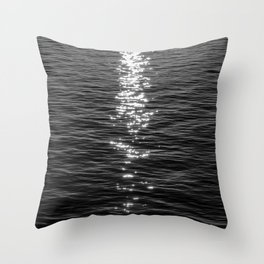 Dark Shimmer Throw Pillow