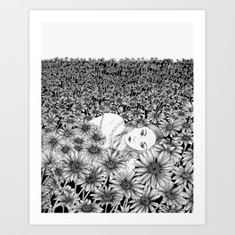 Lying Here With You Art Print