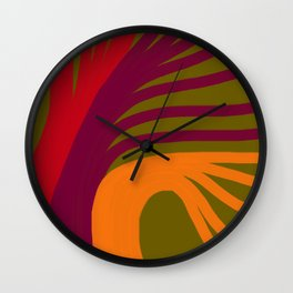 Triplets - Pickle Green Wall Clock