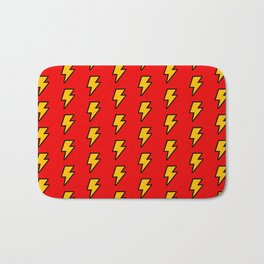 Cartoon Lightning Bolt pattern Bath Mat