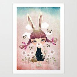 Sugar Bunny Art Print