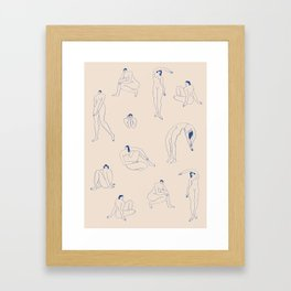 Les Silhouettes Bleues for Mimi Hammer Framed Art Print