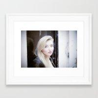 beth hoeckel Framed Art Prints featuring Beth by neutral density