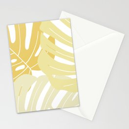Pastel yellow monstera deliciosa Stationery Cards