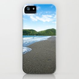 Blue Sky Black Sand Photography Print iPhone Case