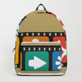 Illustrations icons sets with new modern flat design Backpack